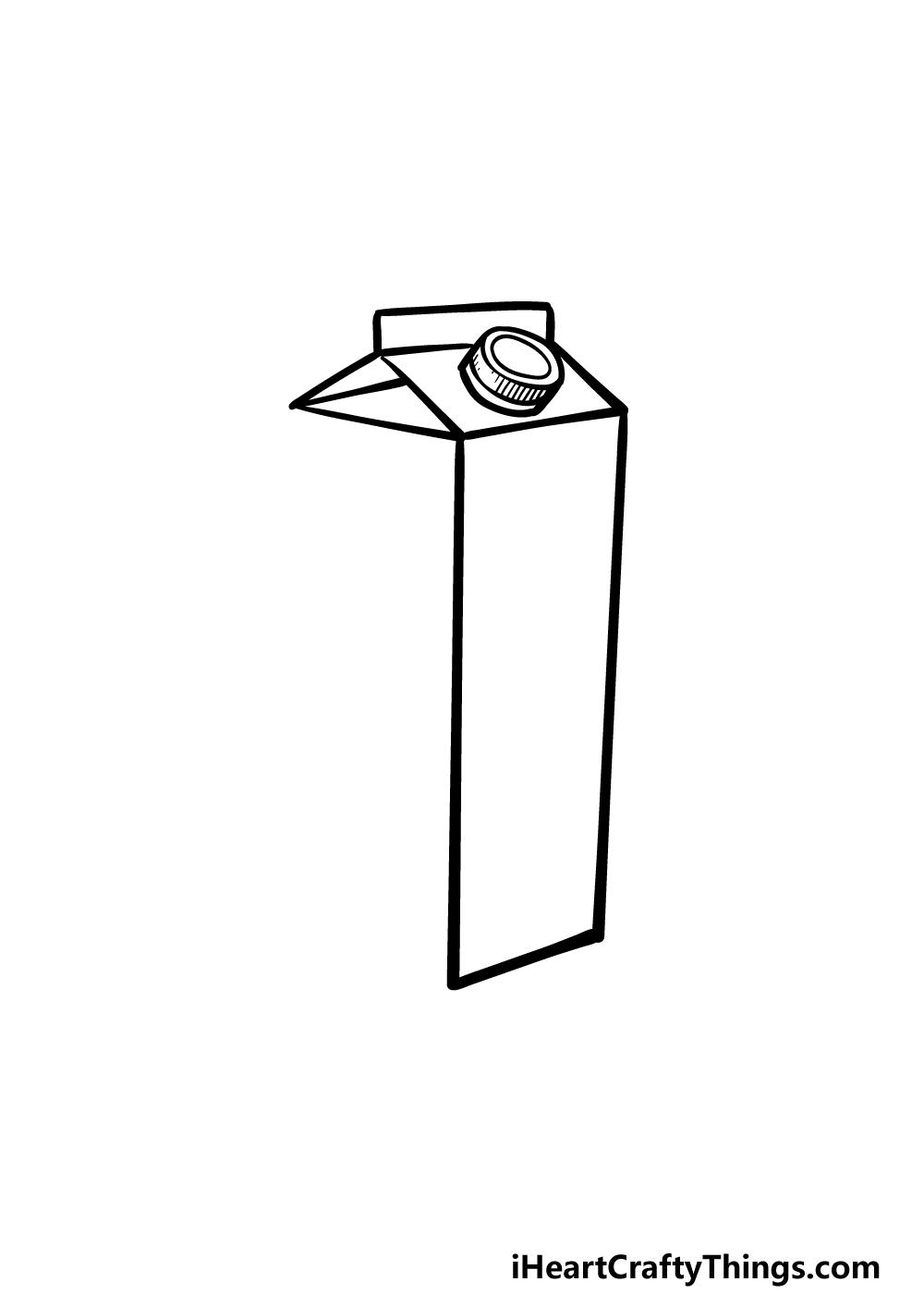 drawing a milk carton step 3