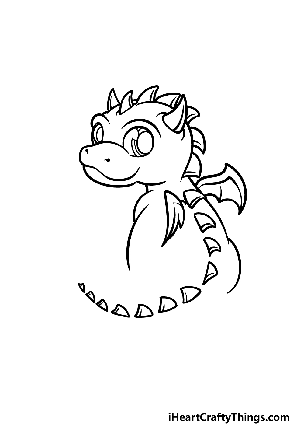 drawing baby dragon step 3