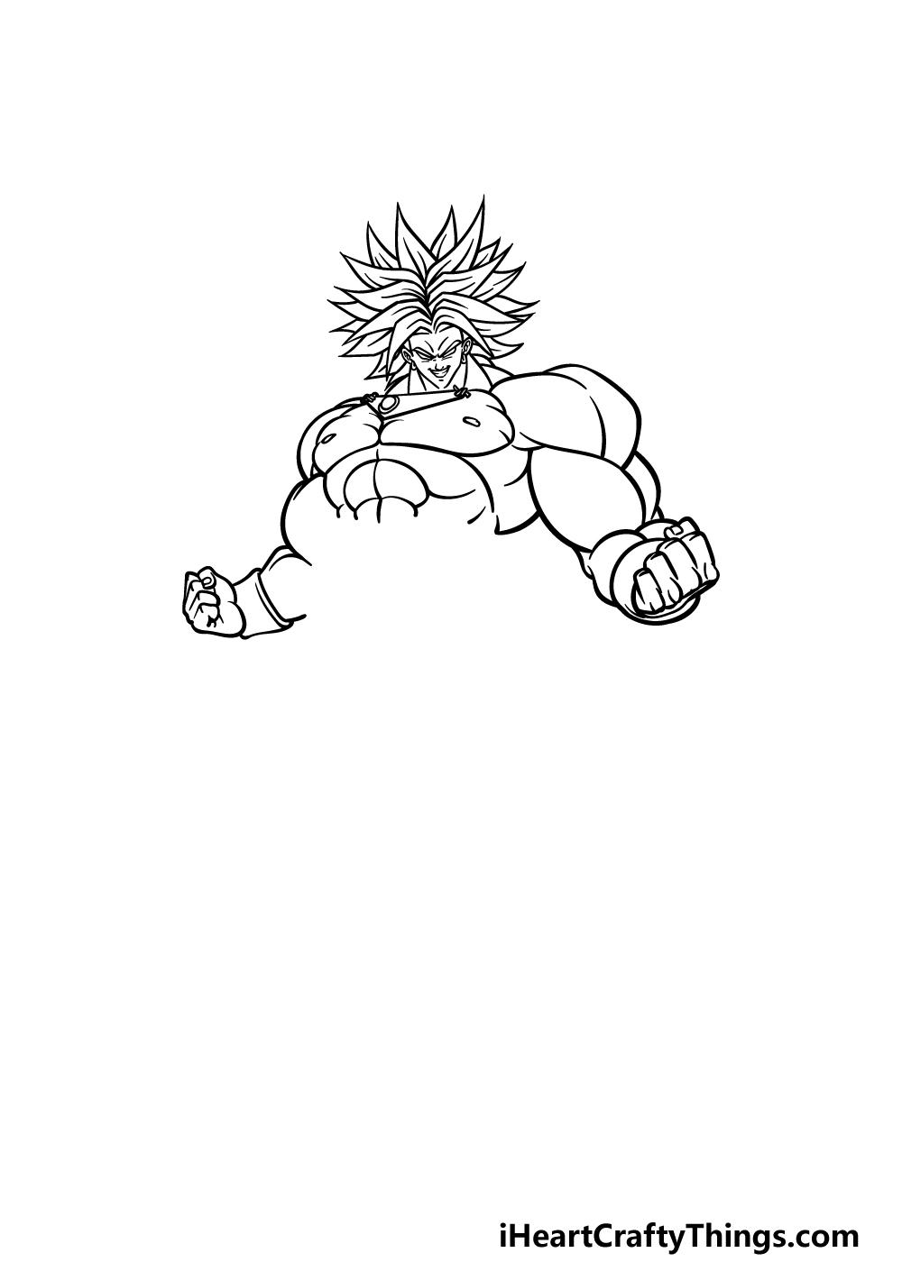 drawing Broly step 3