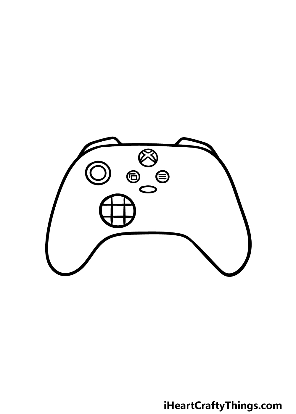 drawing an Xbox Controller step 3