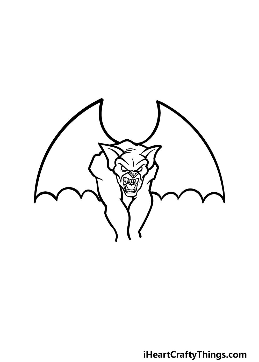 drawing Gargoyle step 3