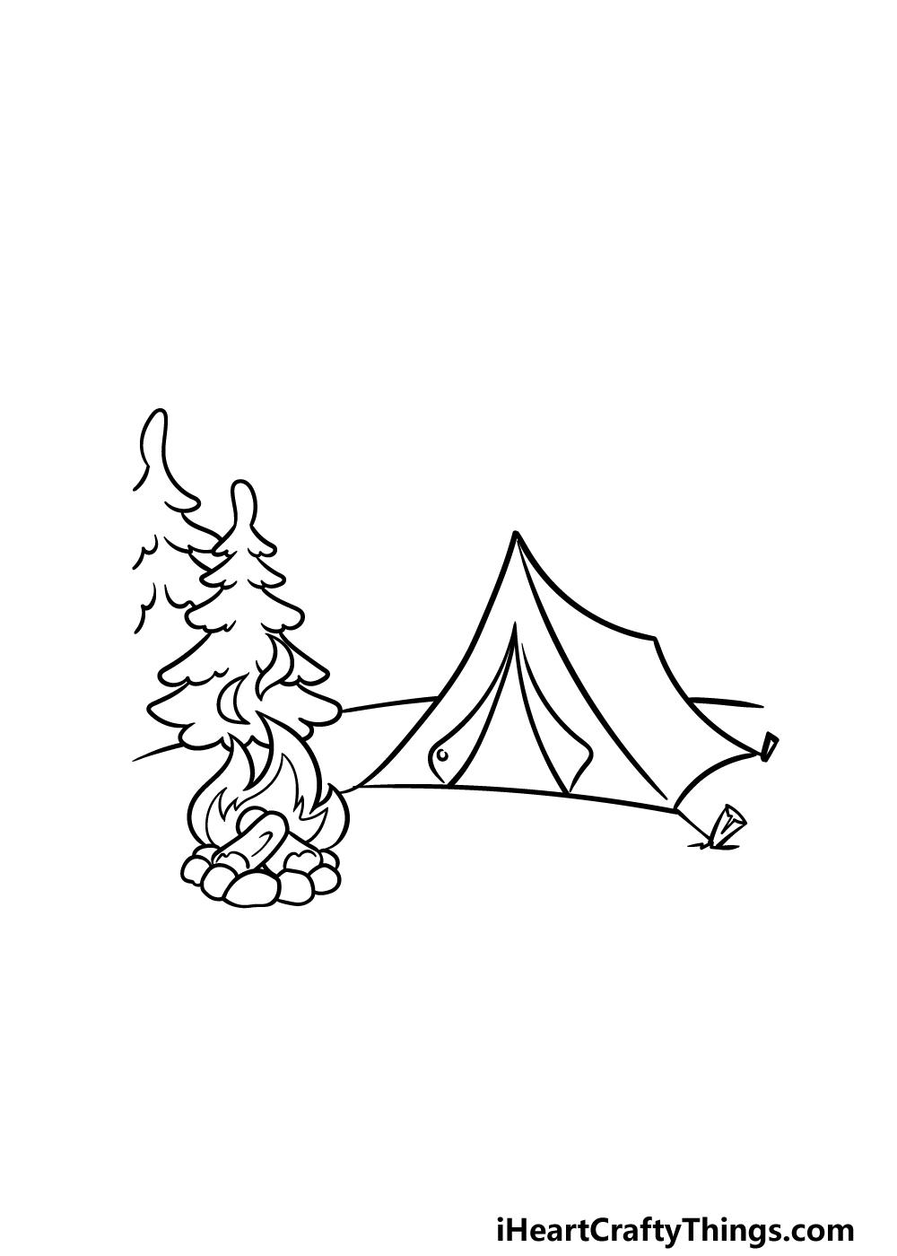 drawing camping step 3
