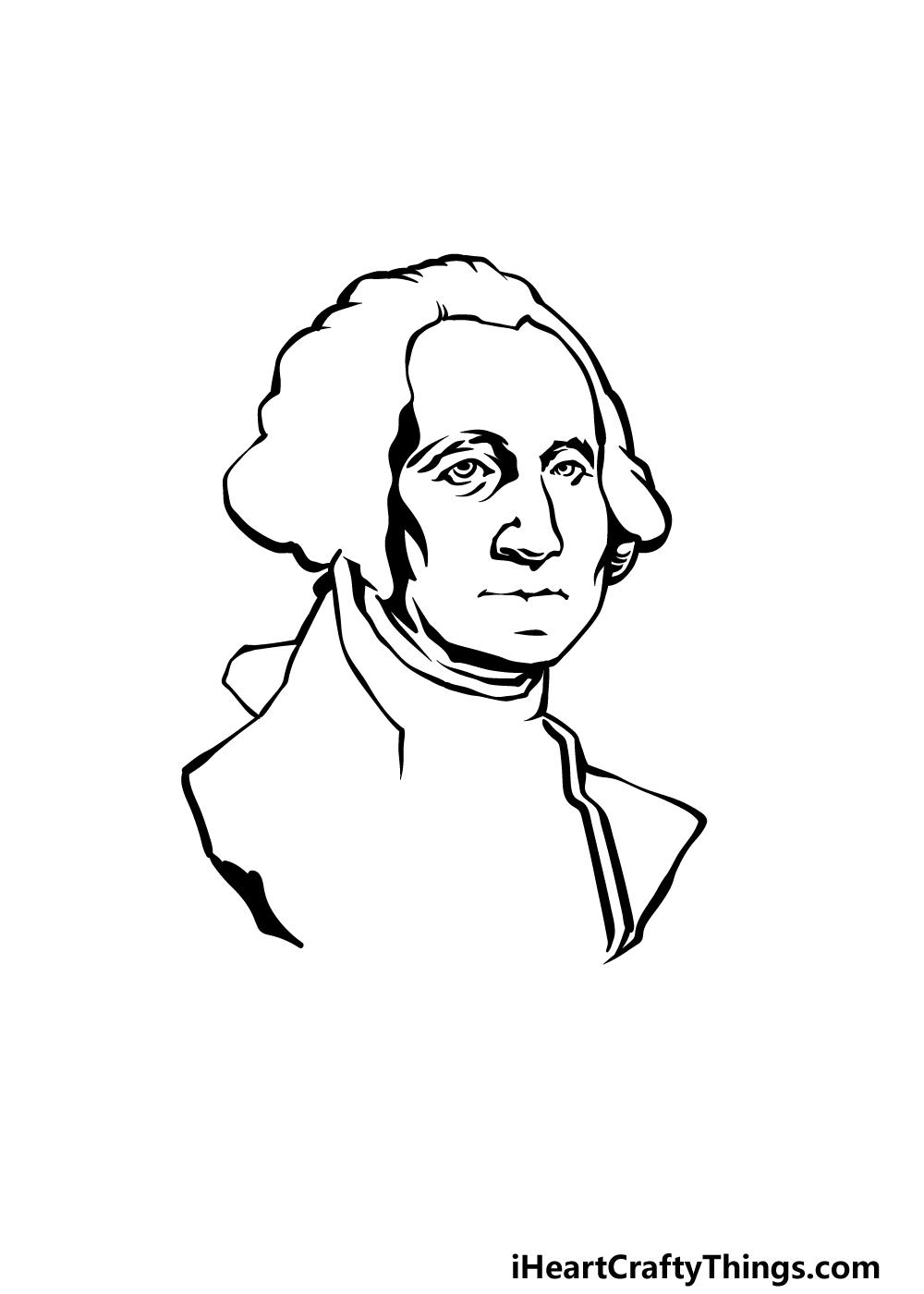how to draw George Washington step 3