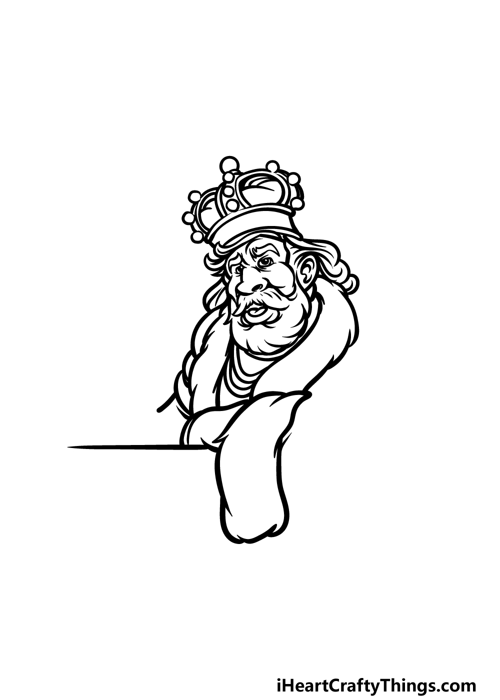 how to draw a King step 3
