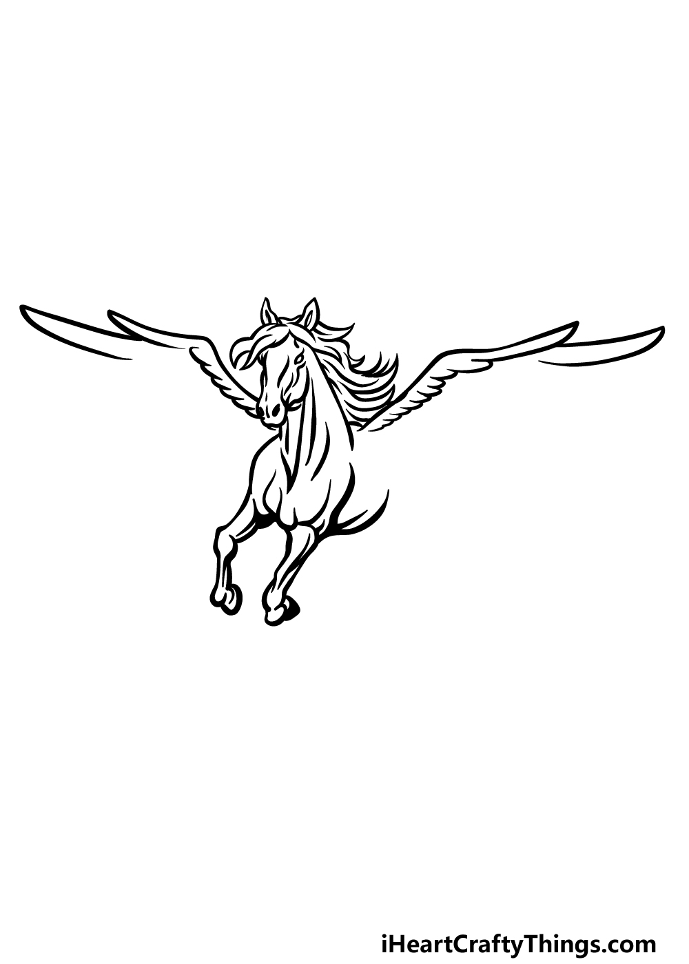 how to draw Pegasus step 3
