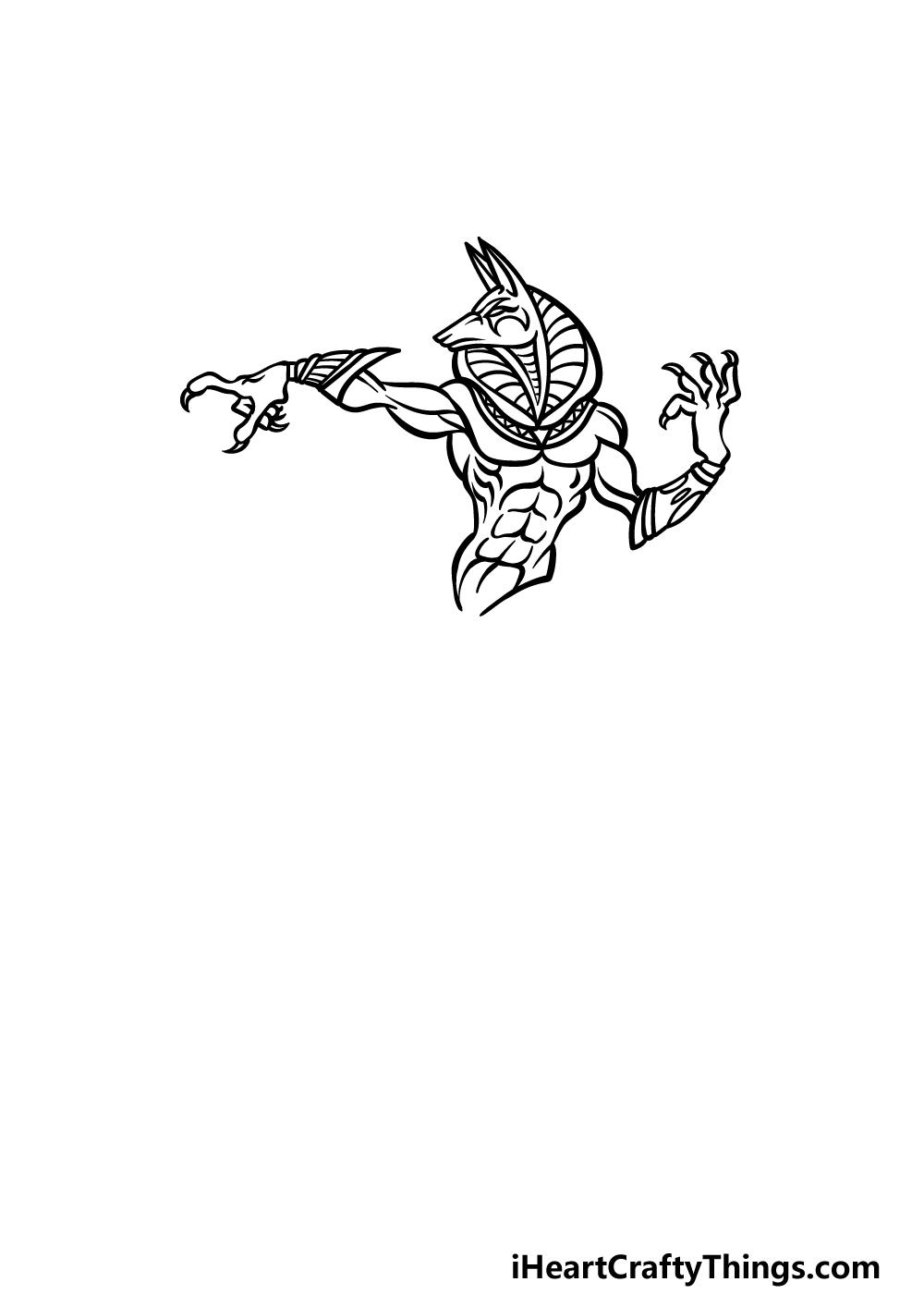 drawing Anubis step 3