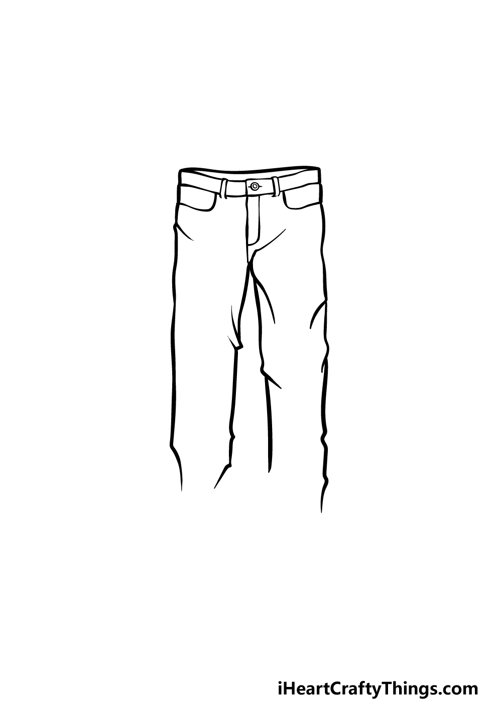 how to draw pants step 3