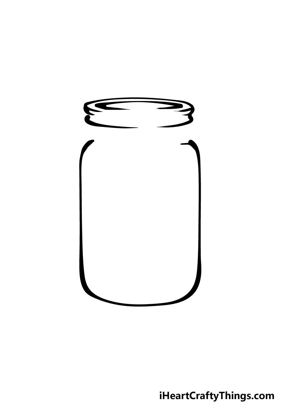 how to draw a mason jar step 3