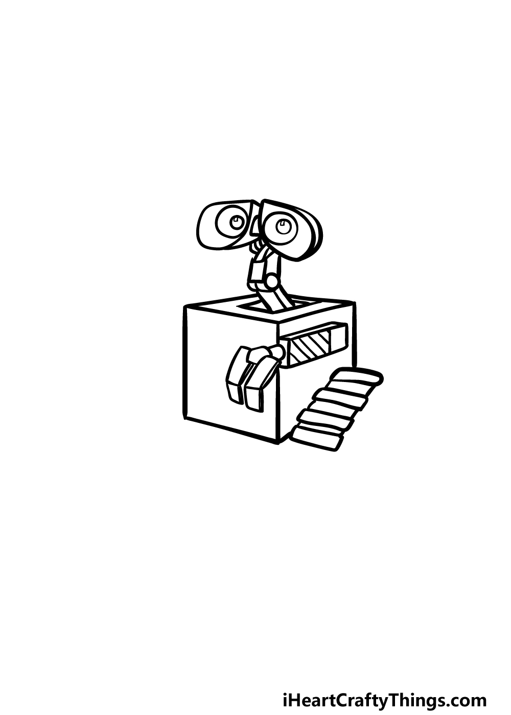 how to draw Wall-E step 3