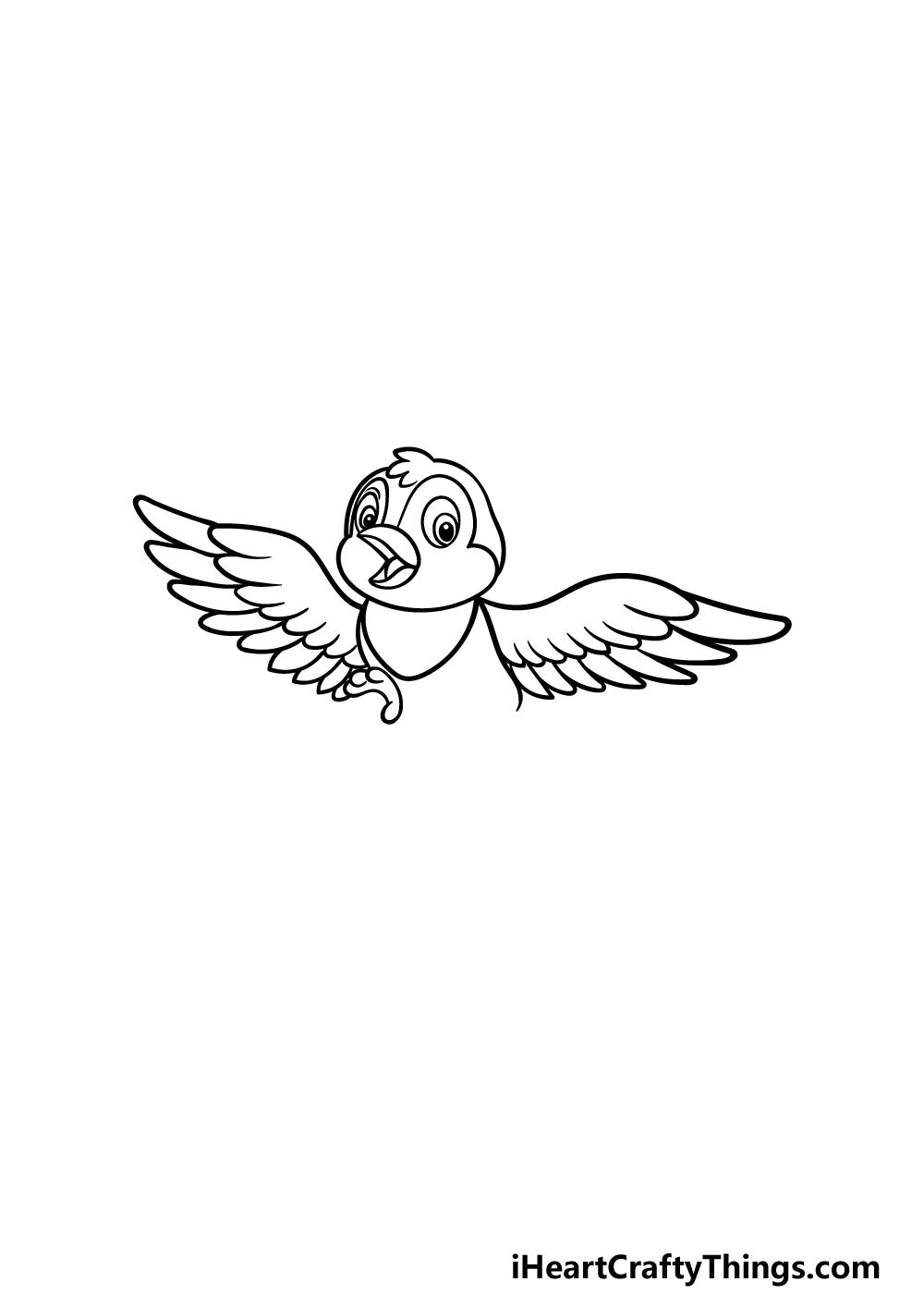 how to draw a cartoon bird step 3
