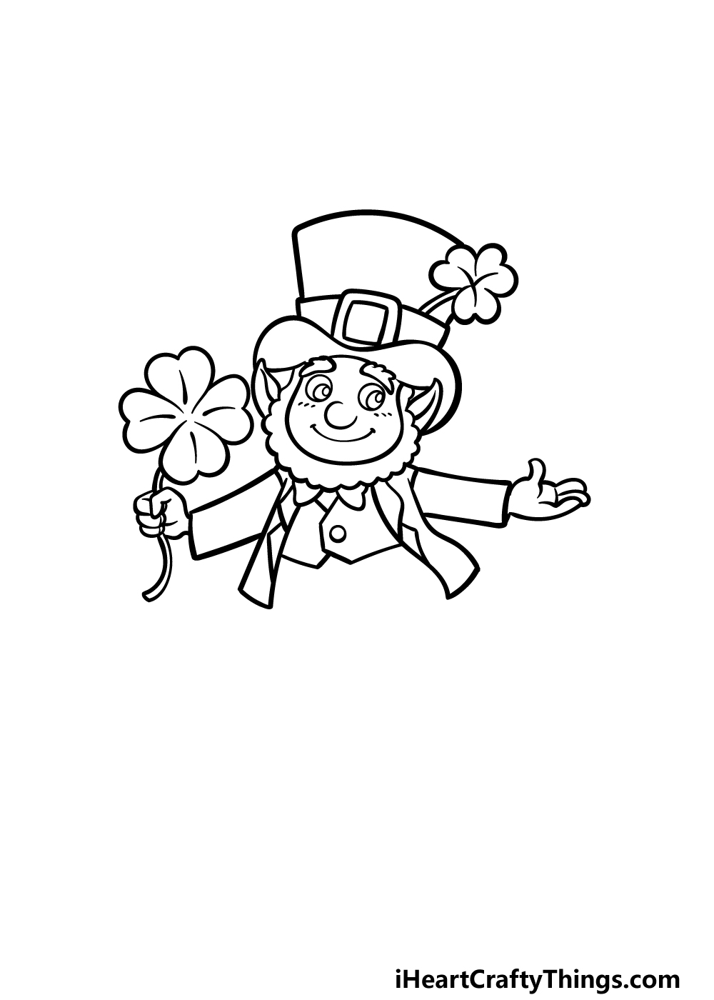 how to draw St. Patrick's Day step 3