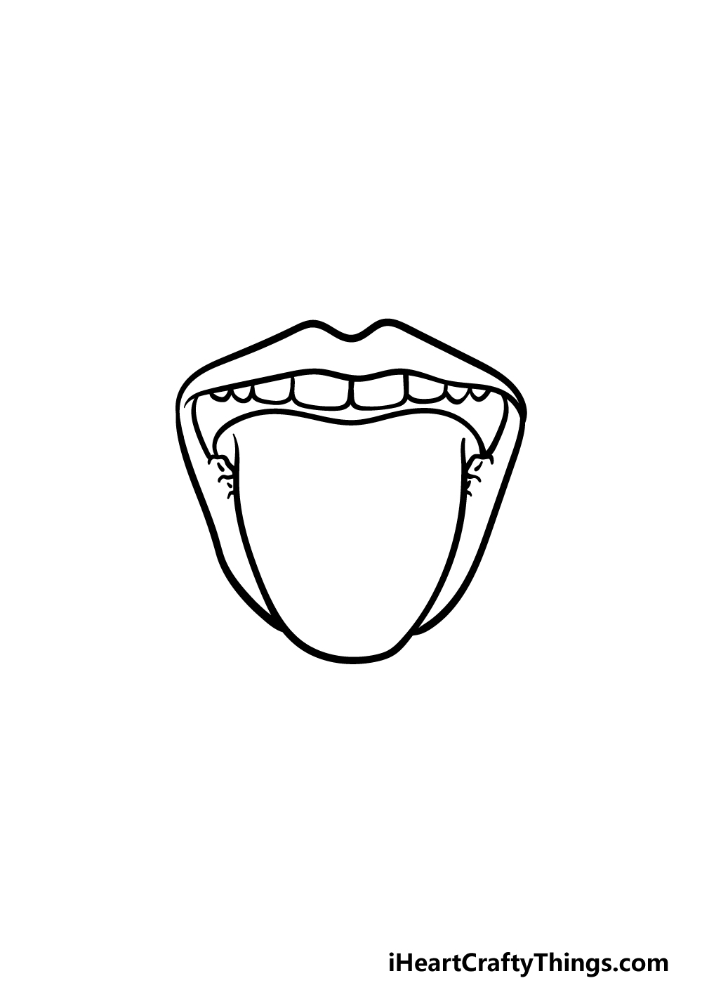 how to draw a tongue step 3