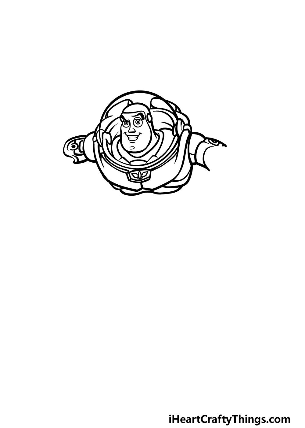 drawing Buzz Lightyear step 3