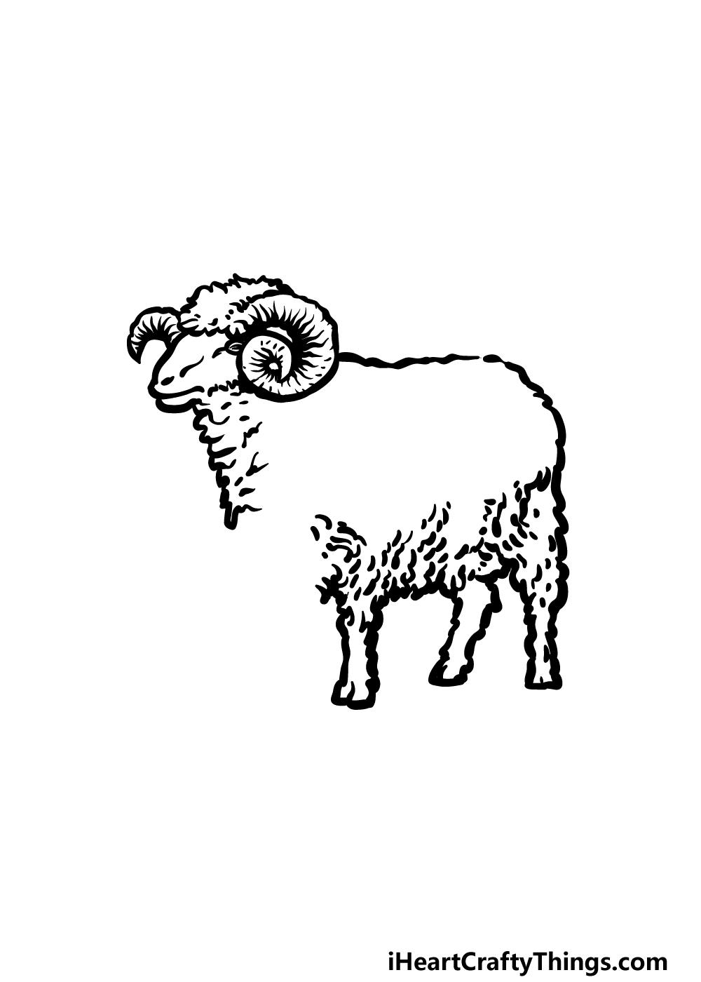 drawing a ram step 3