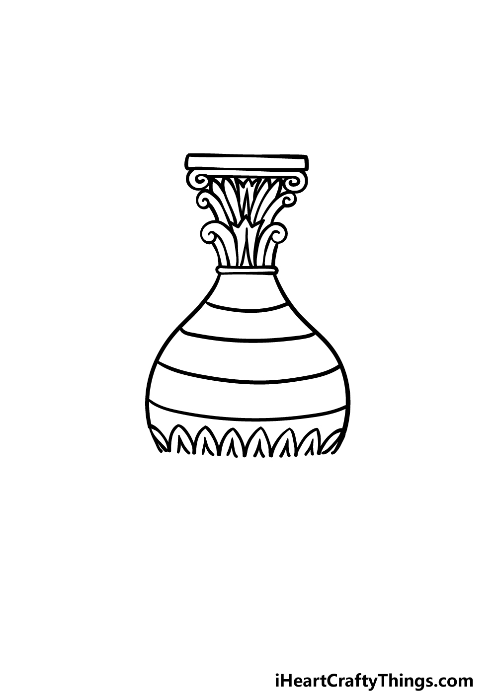 drawing a vase step 3