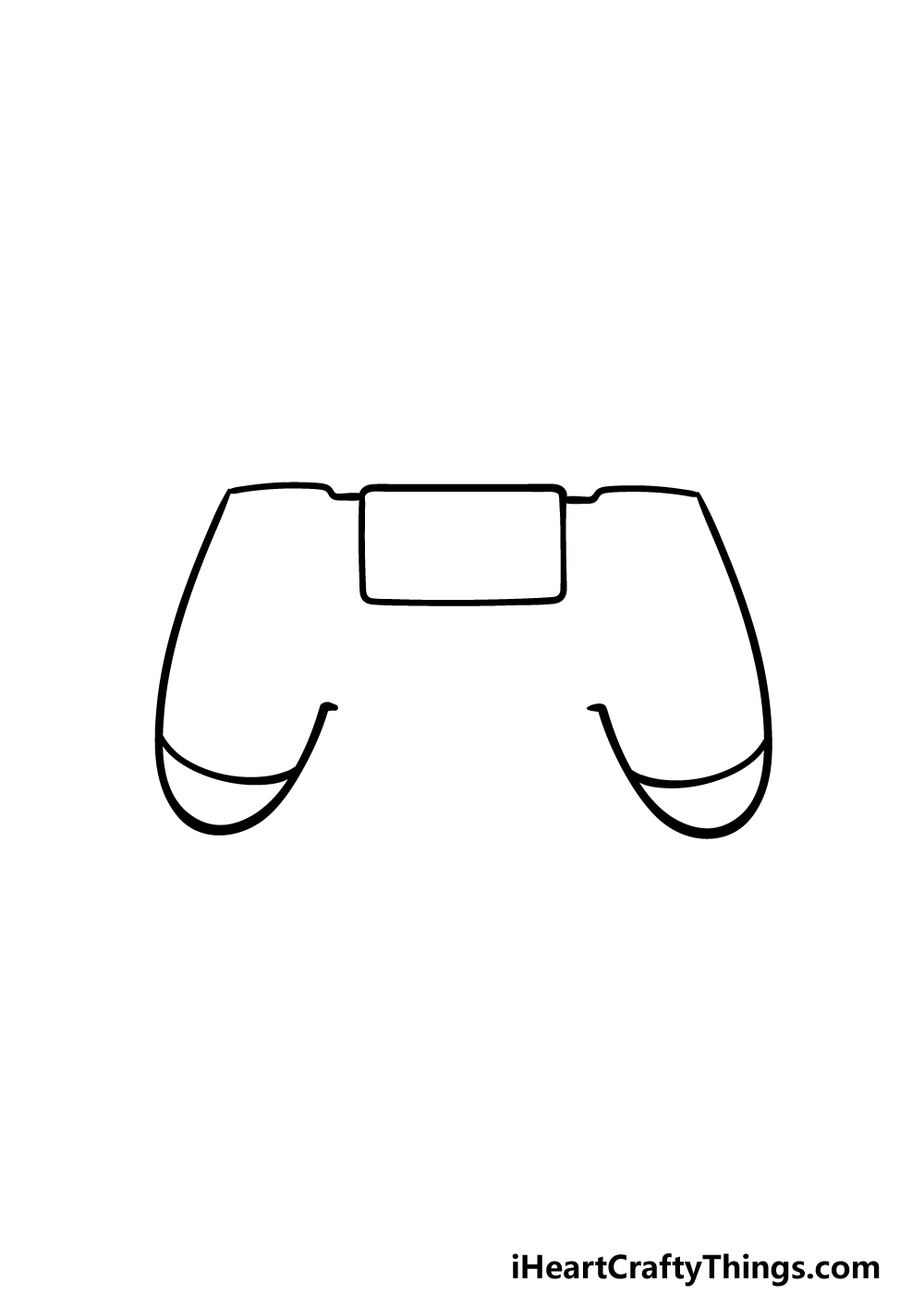 drawing PS4 Controller step 3