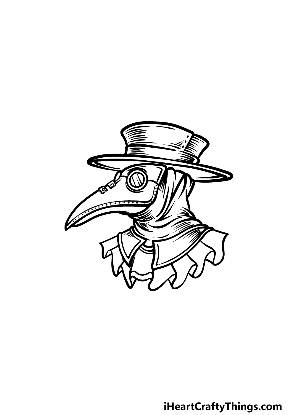 drawing a plague doctor step 4