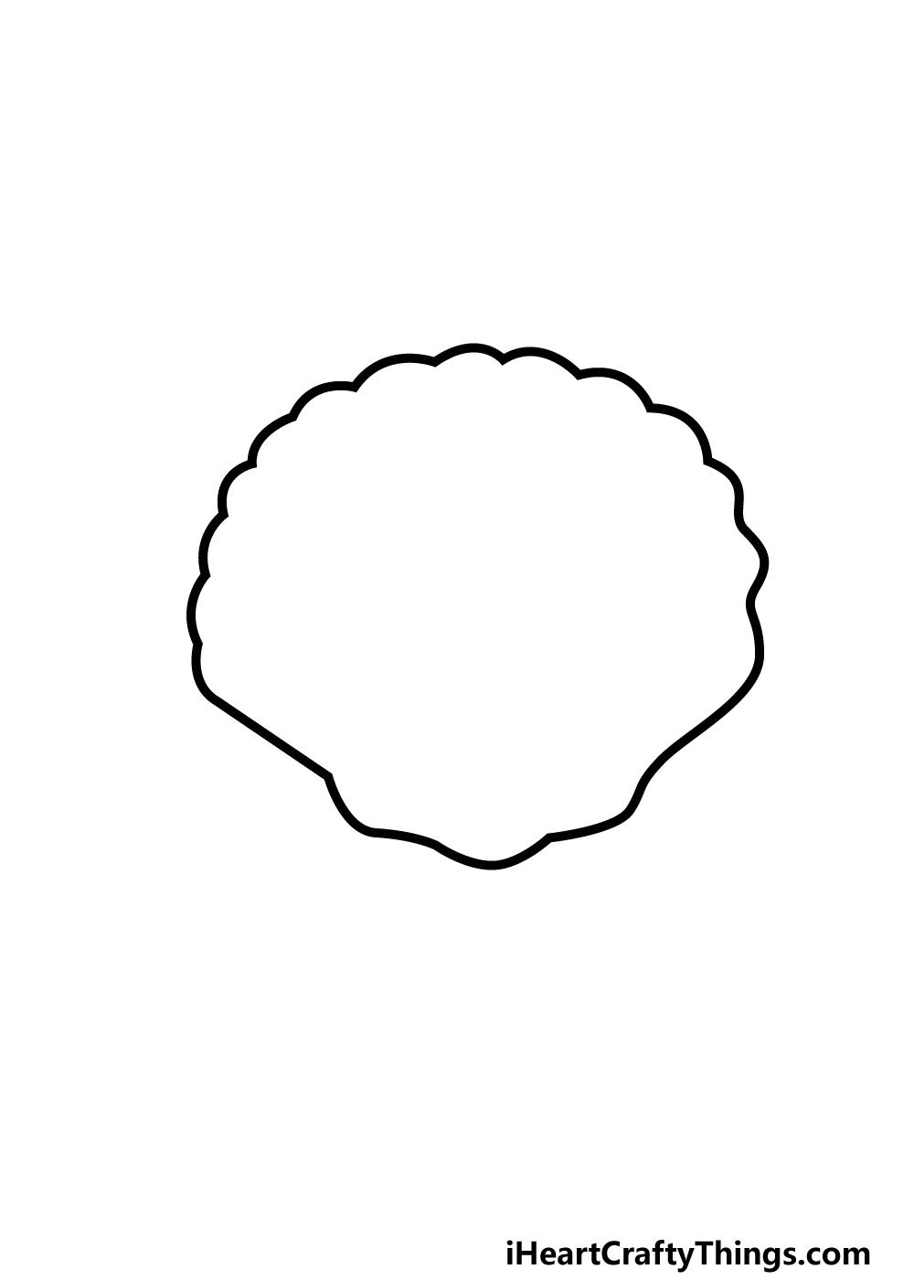 drawing a shell step 4