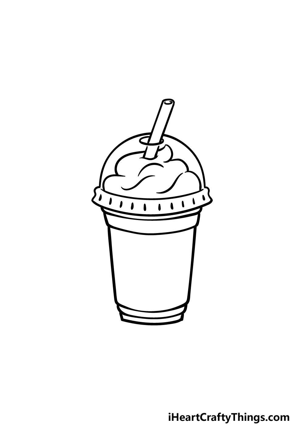 drawing Starbucks step 4
