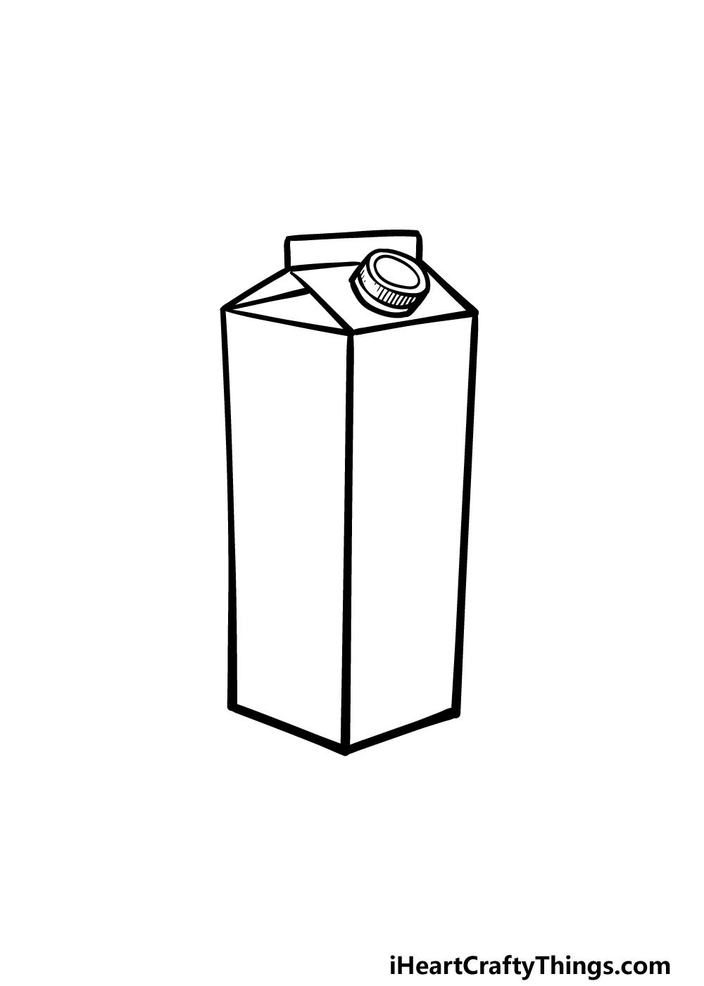 drawing a milk carton step 4