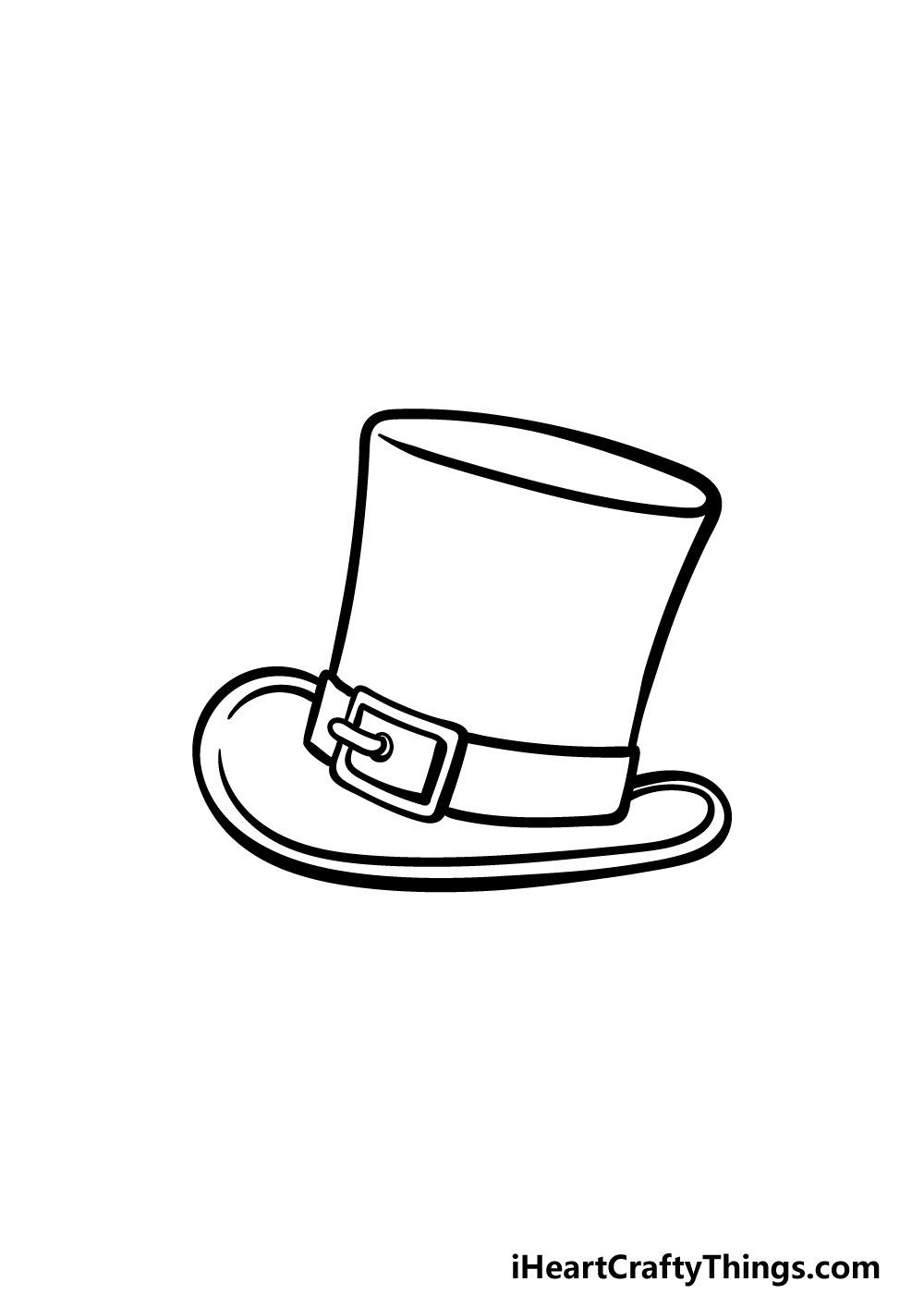 drawing top hat step 4