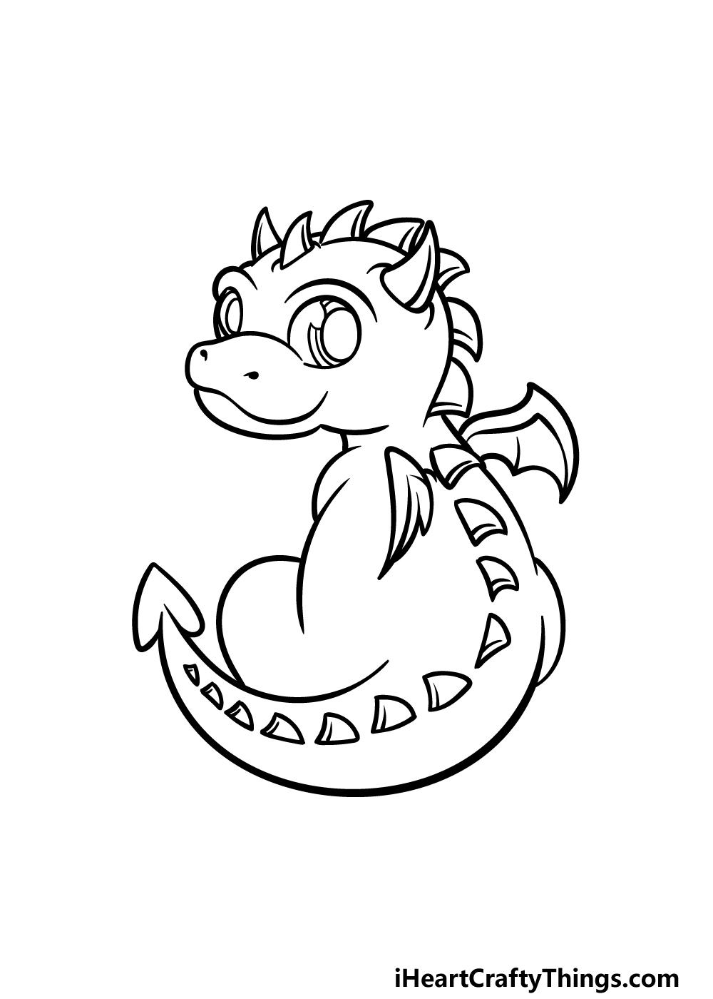 drawing baby dragon step 4
