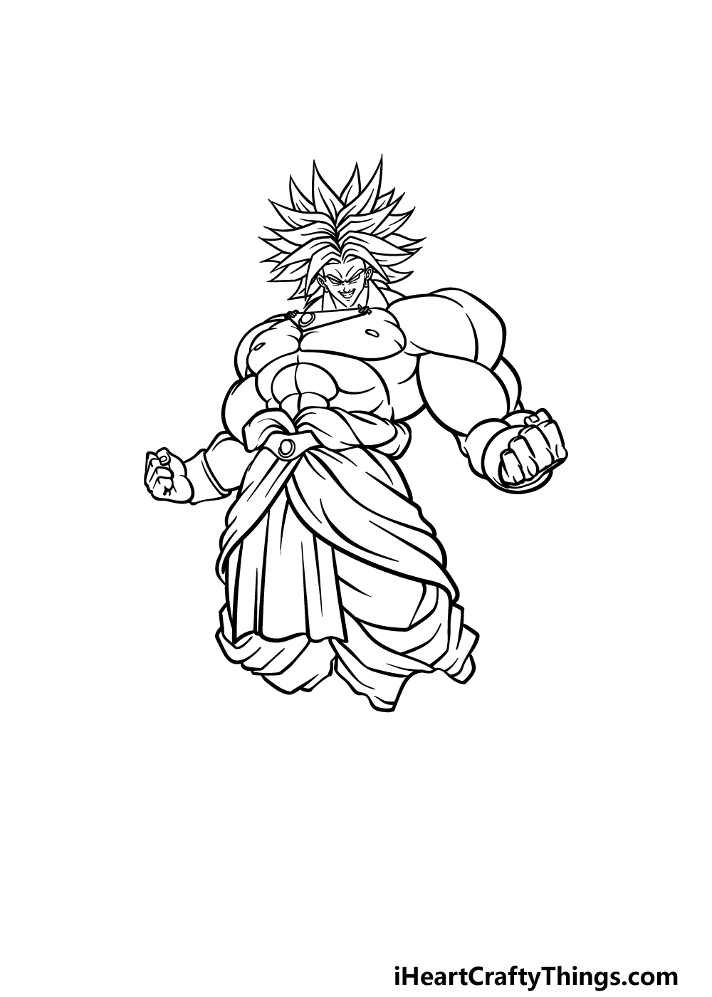 drawing Broly step 4