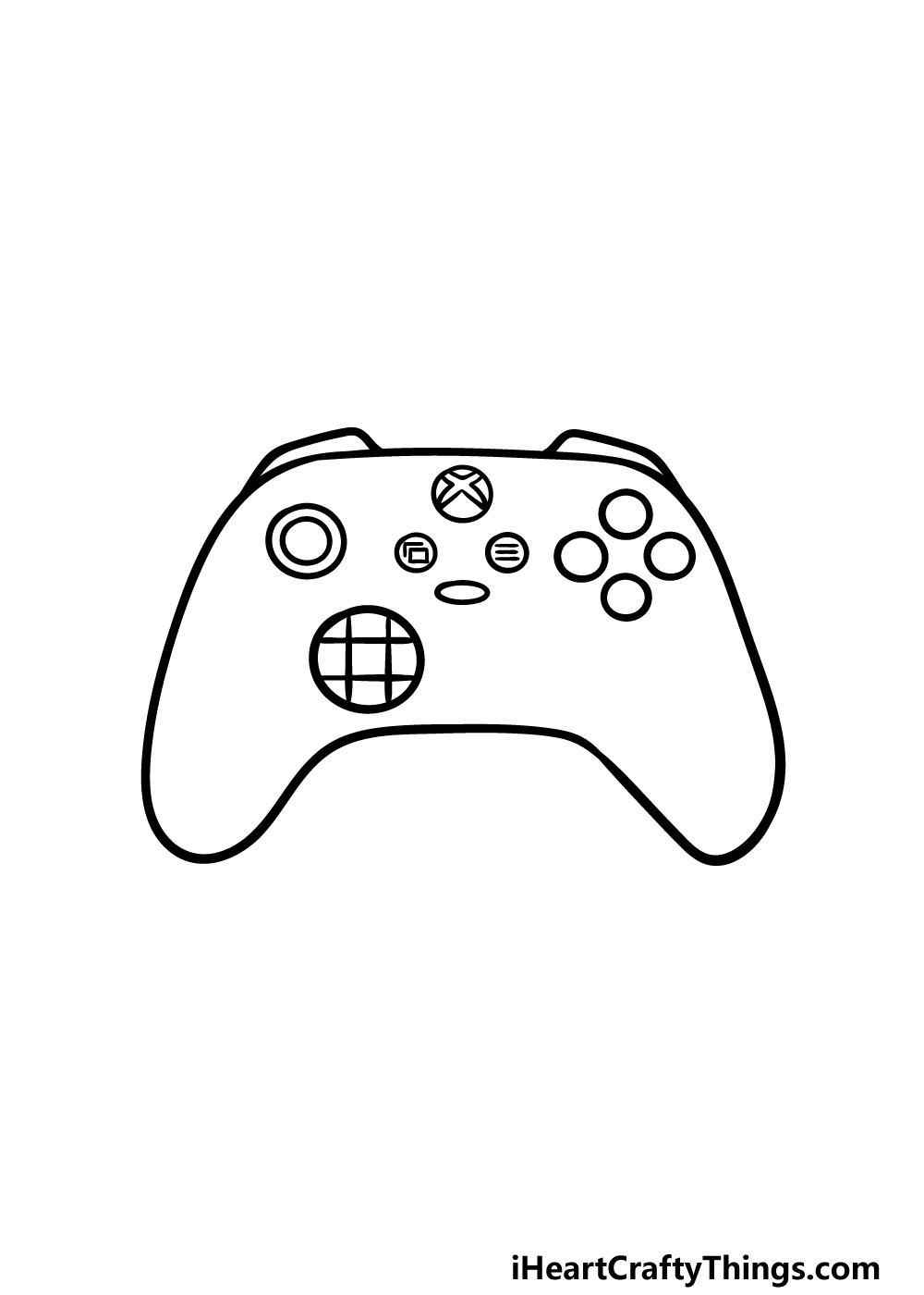 drawing an Xbox Controller step 4