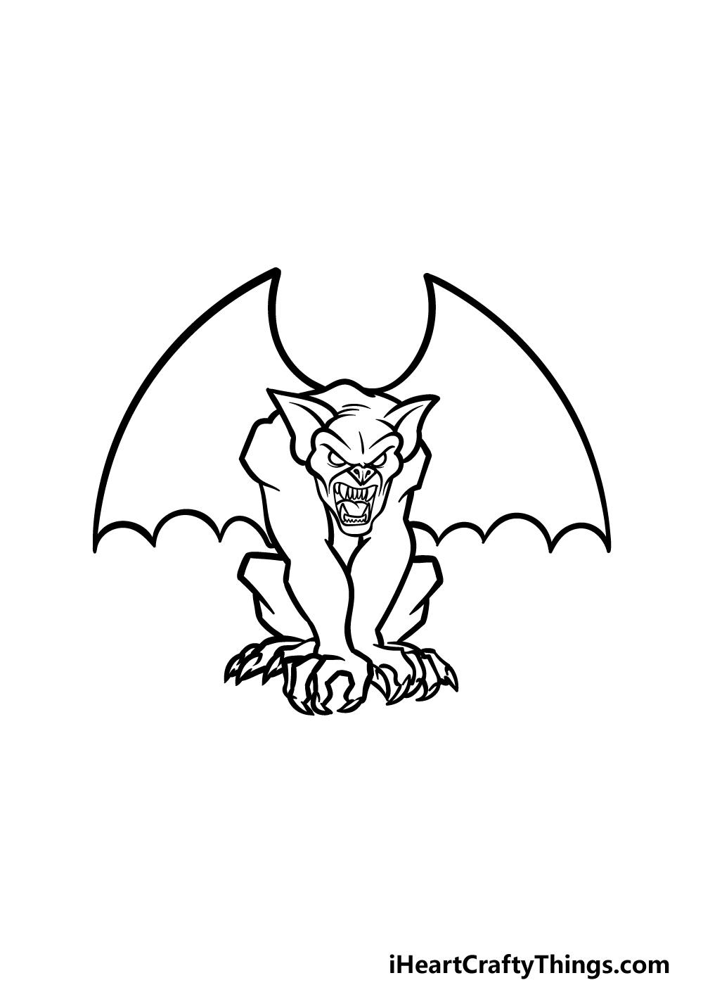 drawing Gargoyle step 4
