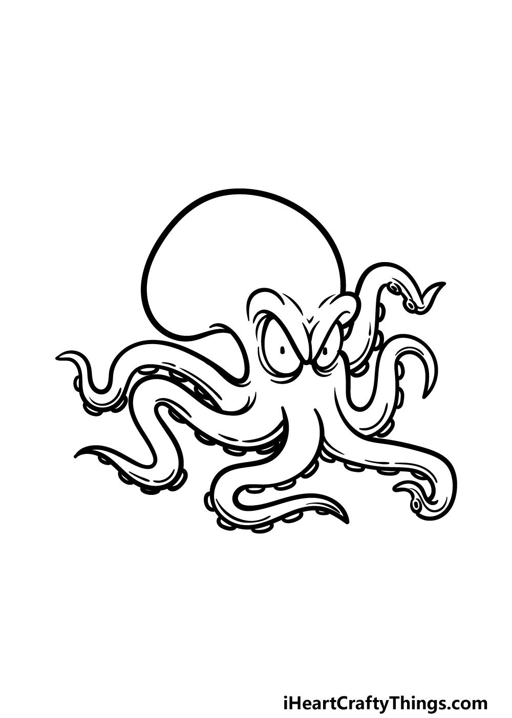 drawing Kraken step 4