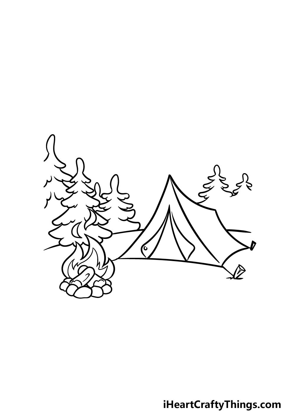 drawing camping step 4