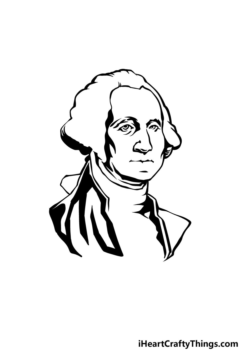 how to draw George Washington step 4
