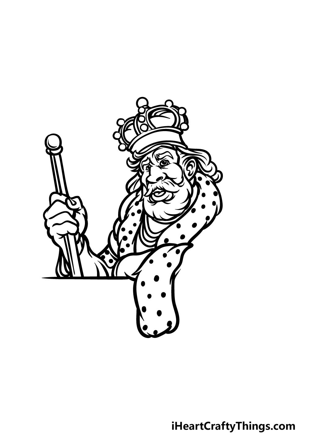 how to draw a King step 4