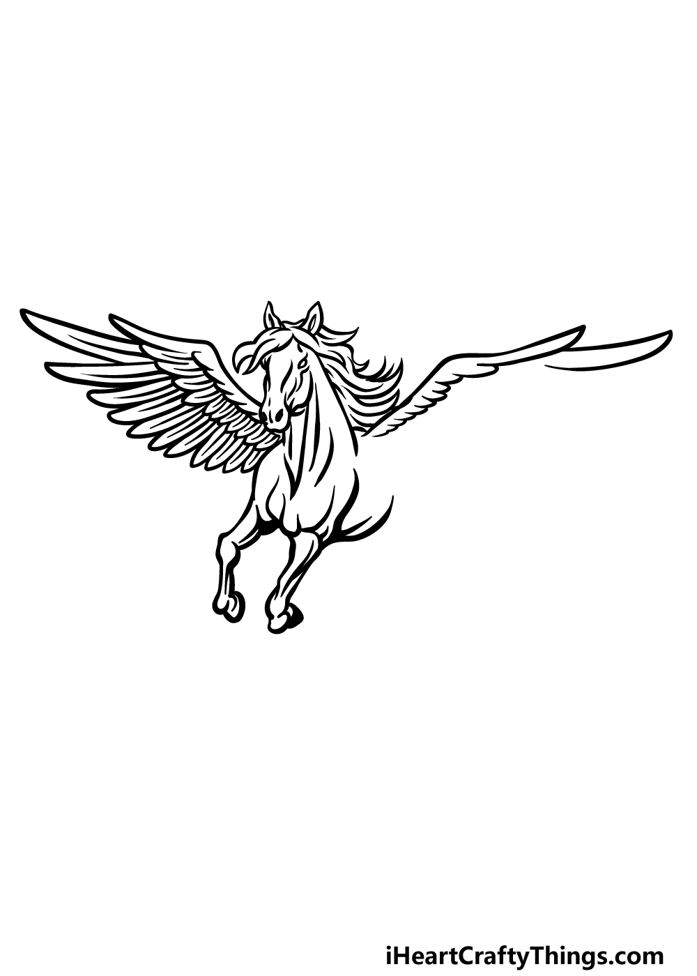 how to draw Pegasus step 4
