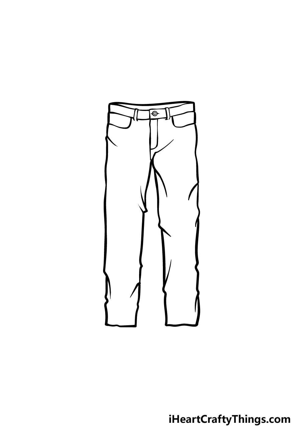 how to draw pants step 4
