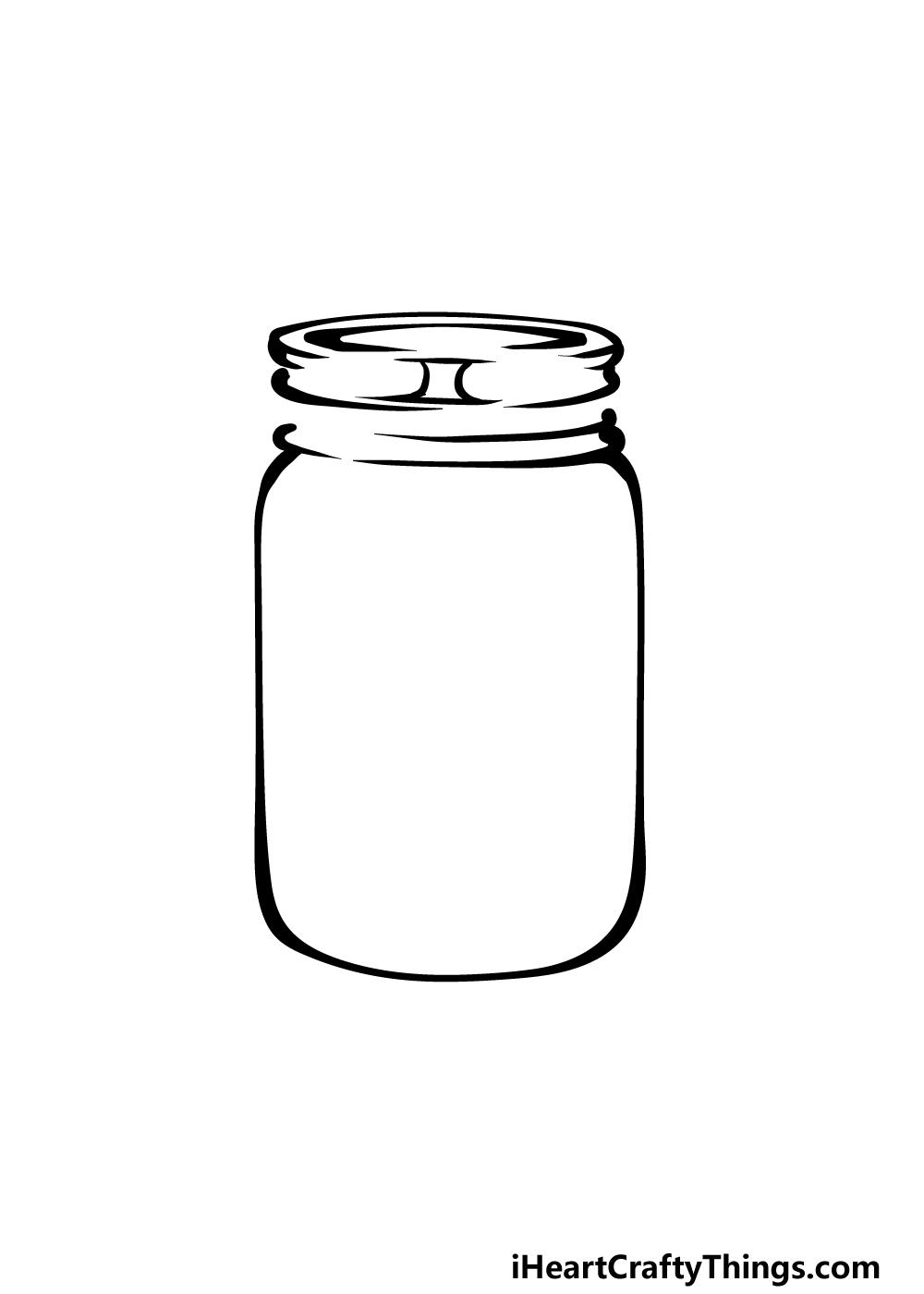 how to draw a mason jar step 4
