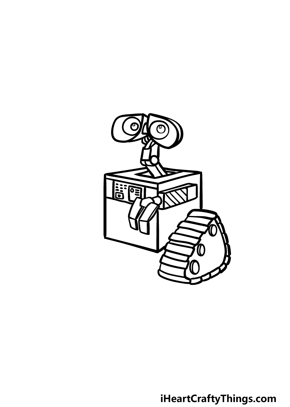 how to draw Wall-E step 4