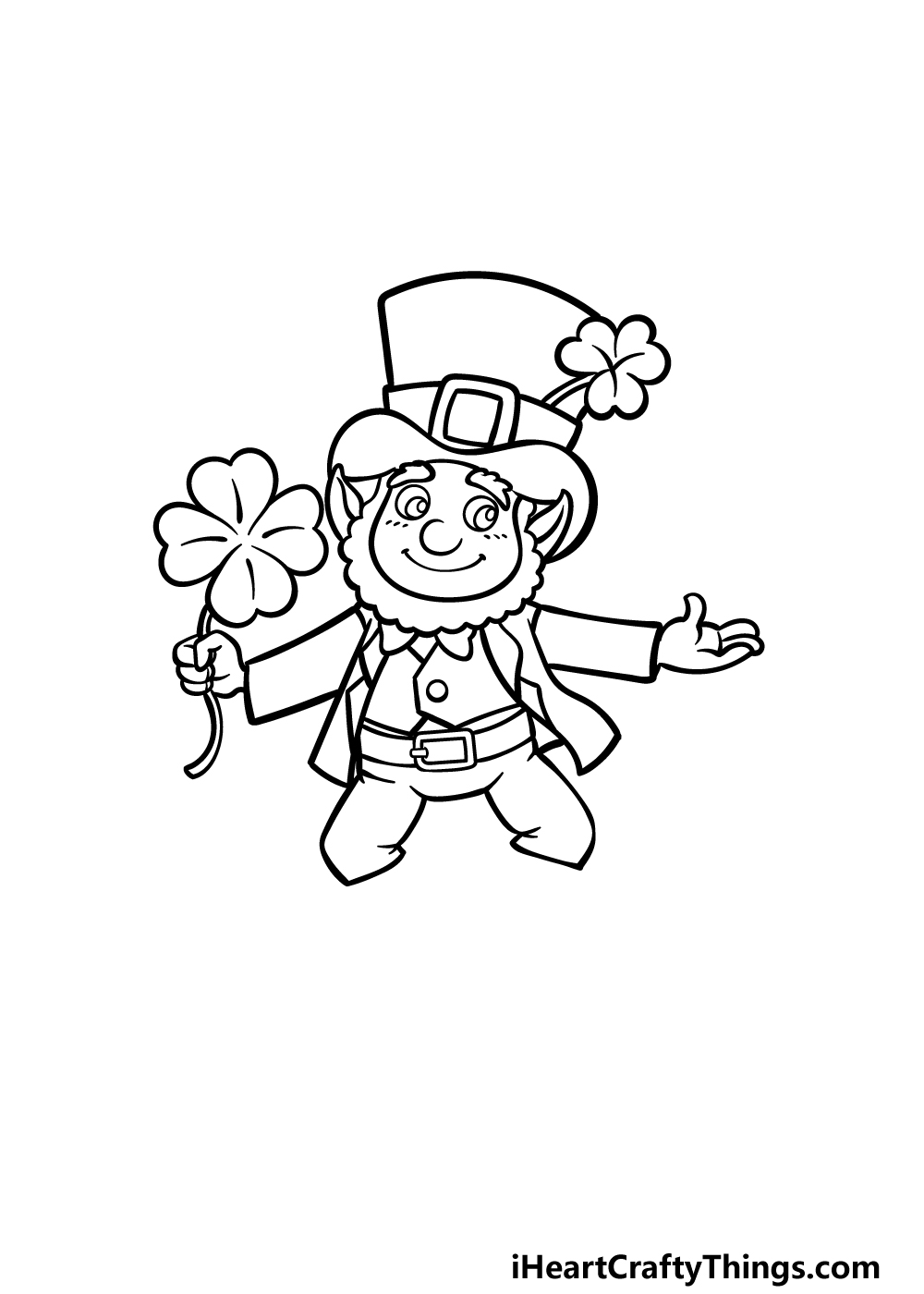 how to draw St. Patrick's Day step 4