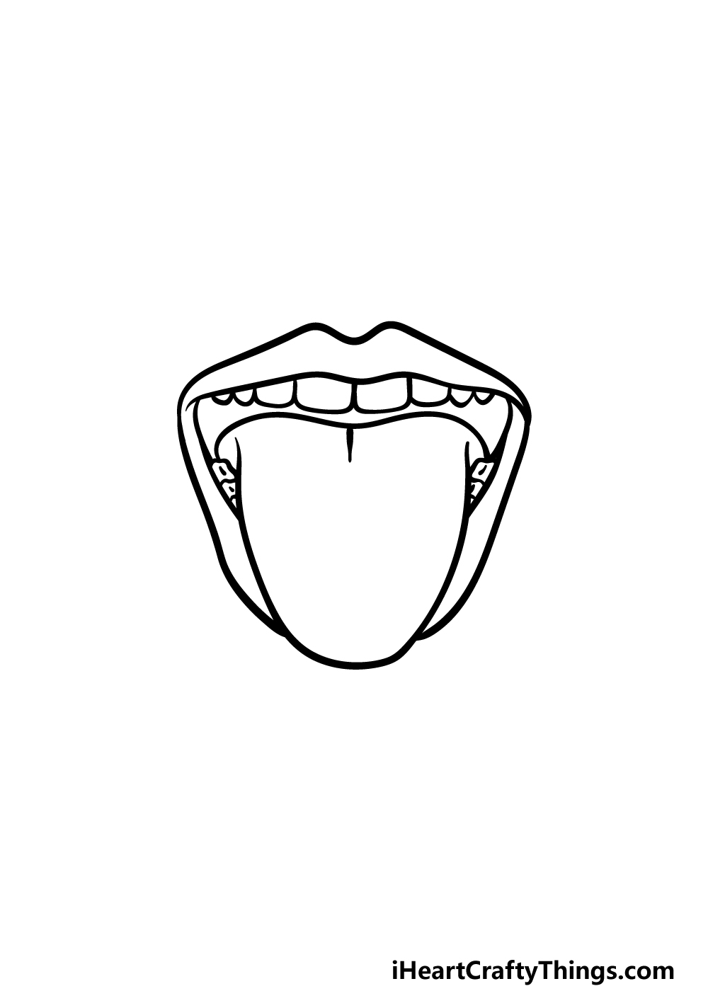 how to draw a tongue step 4