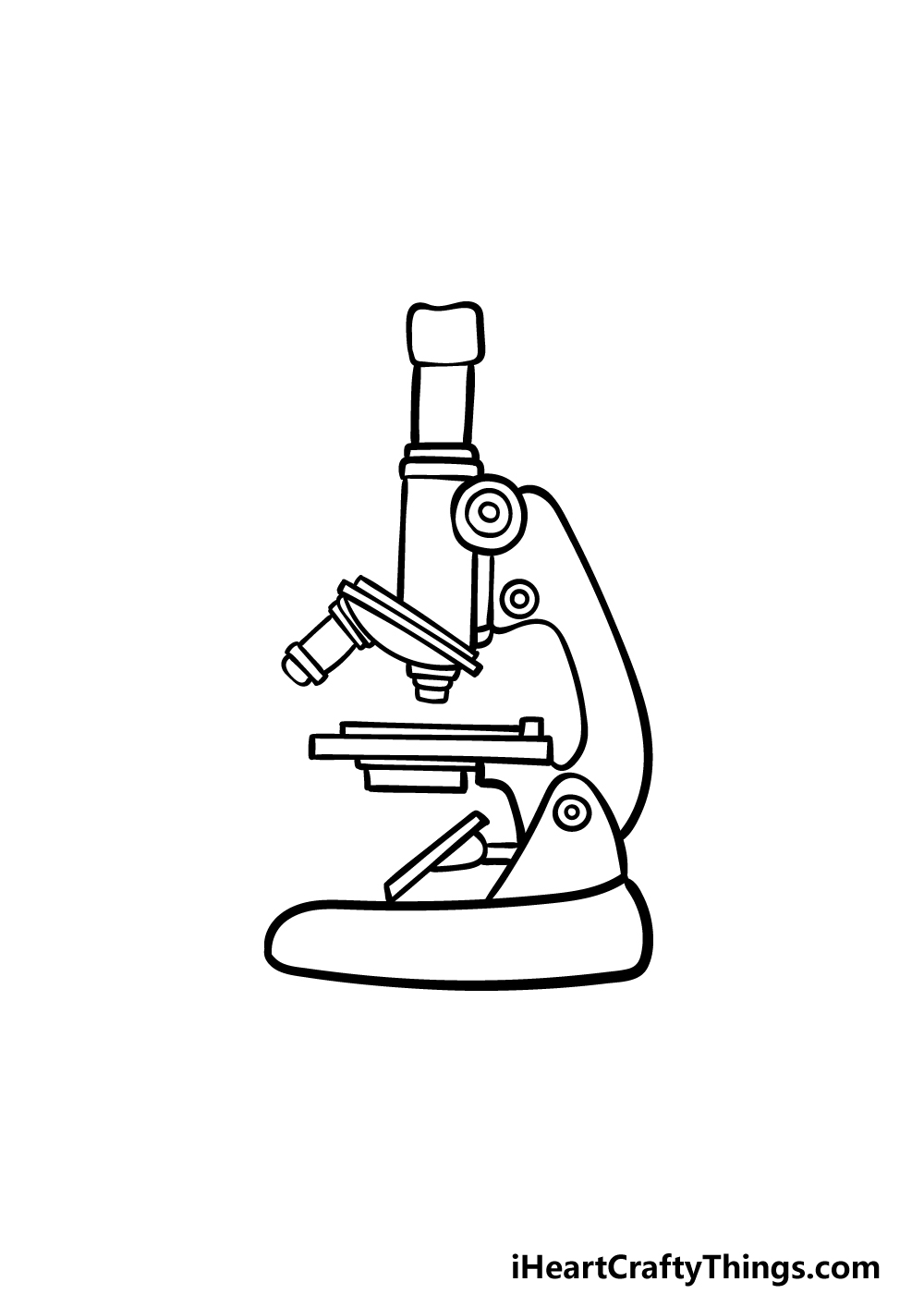 how to draw a microscope step 4