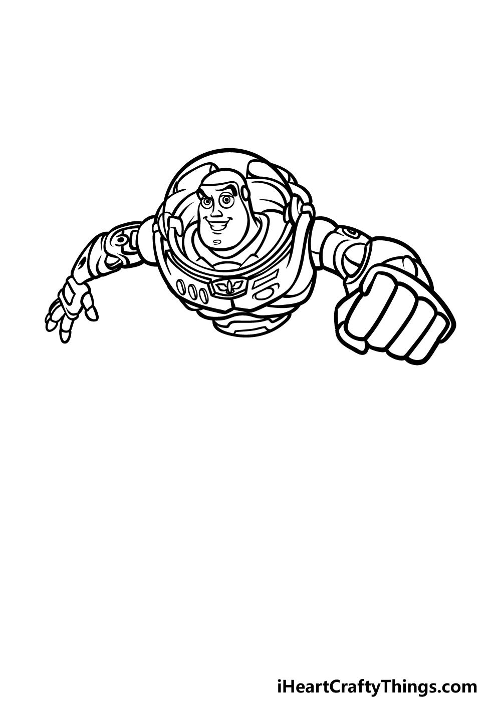 drawing Buzz Lightyear step 4