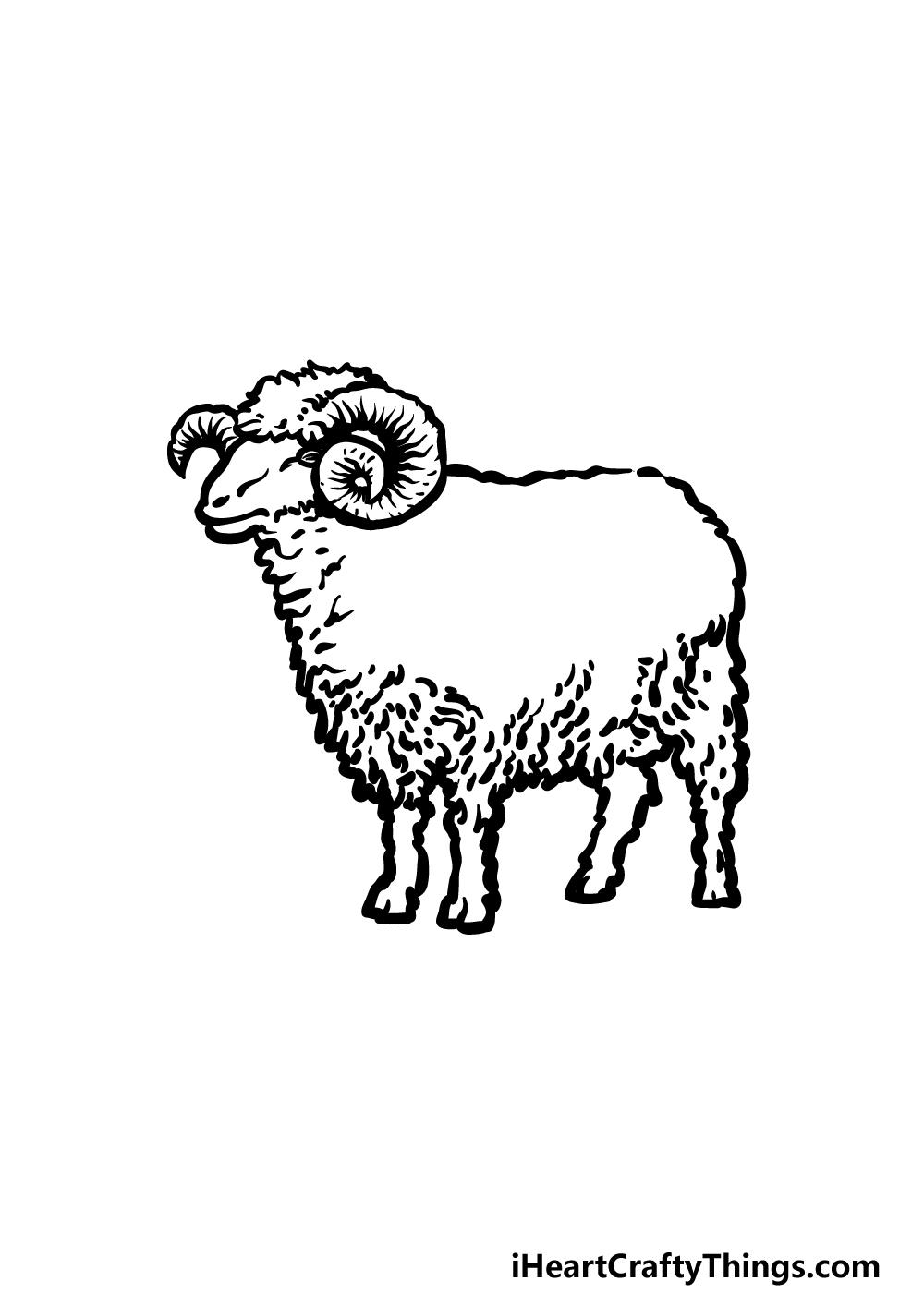 drawing a ram step 4