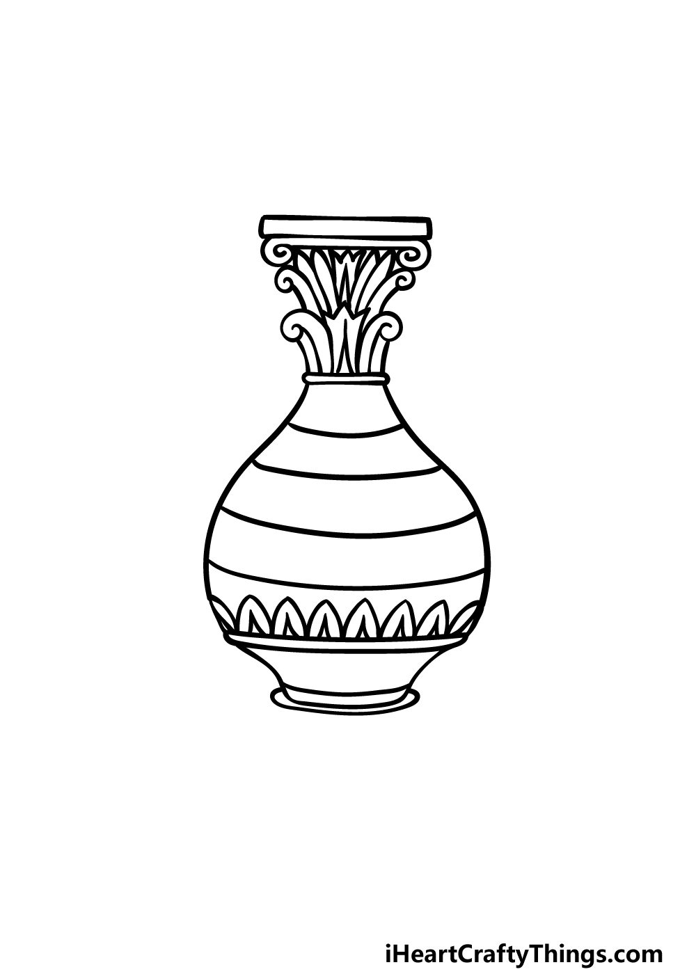 drawing a vase step 4