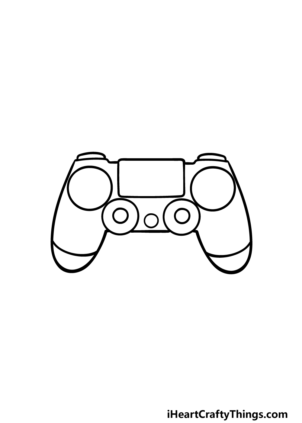 drawing PS4 Controller step 4