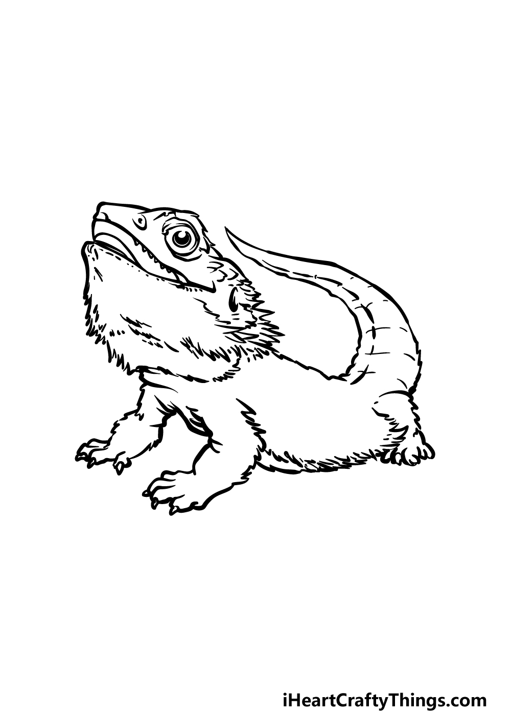 drawing a bearded dragon step 5