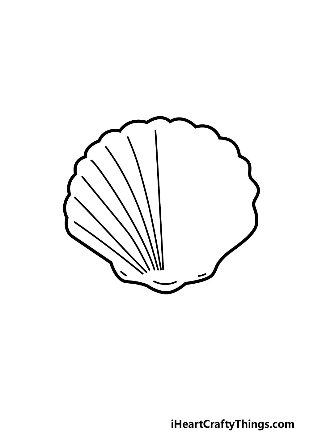 drawing a shell step 5