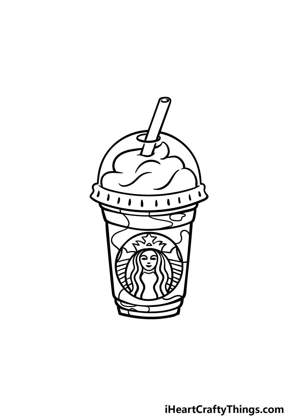 drawing Starbucks step 5