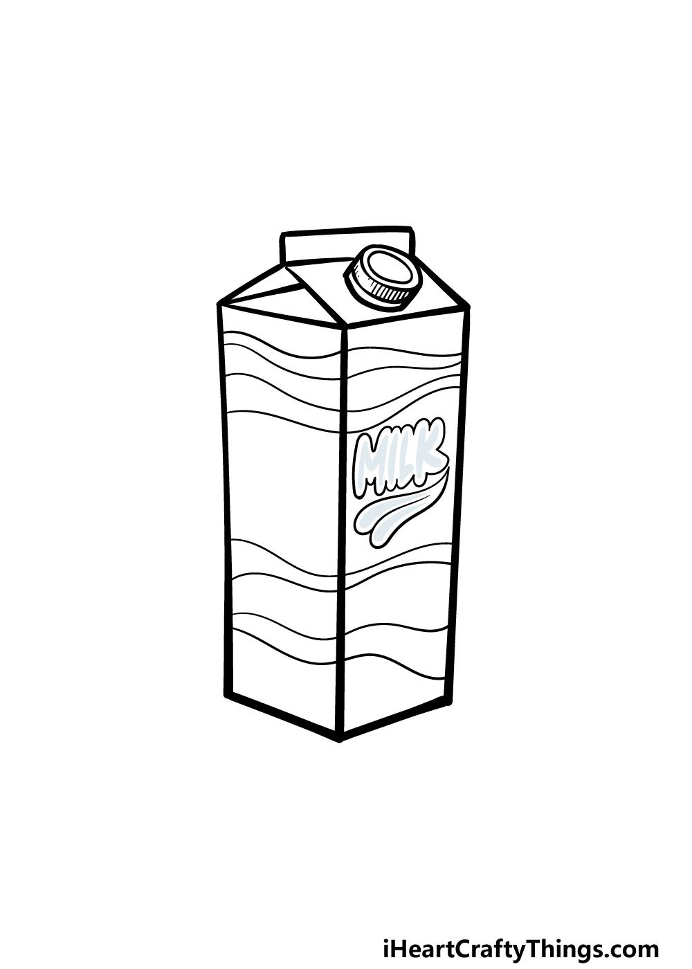 drawing a milk carton step 5