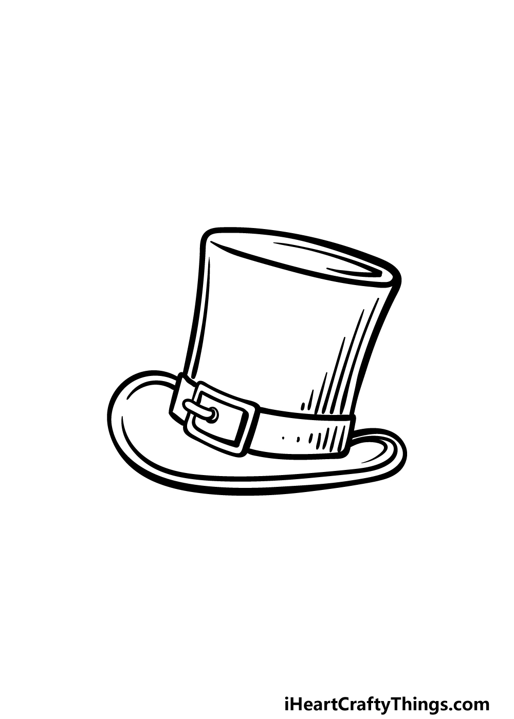 drawing top hat step 5