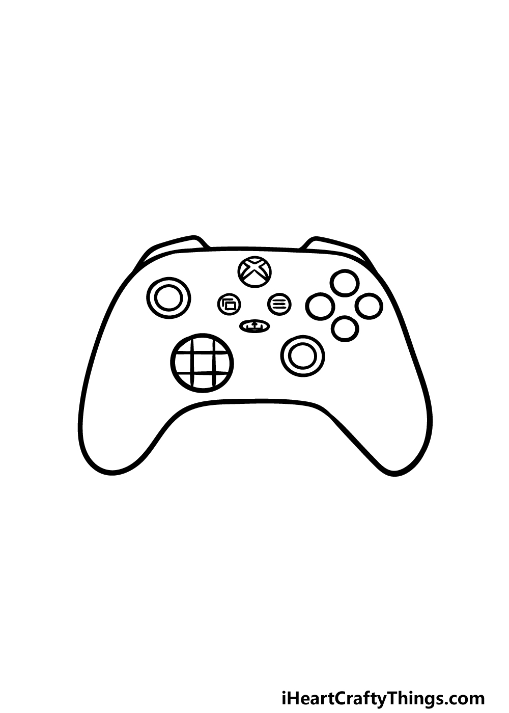 drawing an Xbox Controller step 5